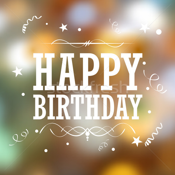 Happy Birthday Typography Background Stock photo © vectomart