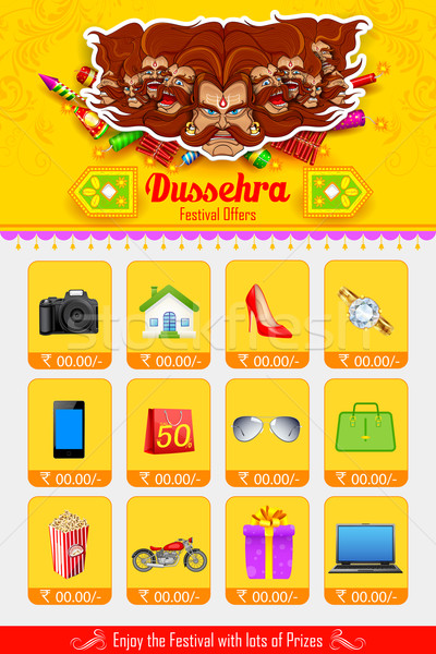 Stock photo: Ravan in Dussehra advertisment and promotion poster