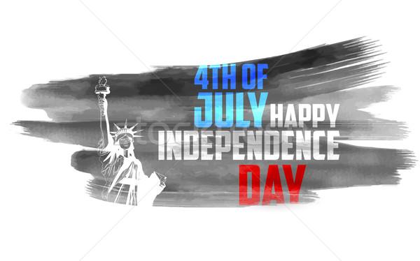 Stock fotó: Negyedik · boldog · nap · Amerika · illusztráció · utazás