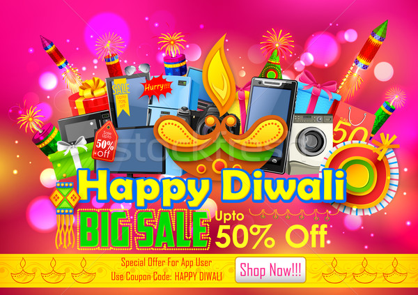Festive Shopping Offer for Diwali holiday promotion and advertisment Stock photo © vectomart