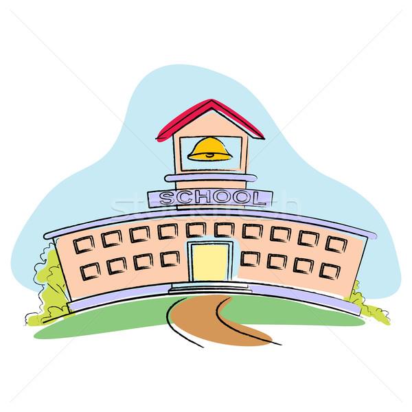 School Building Stock photo © vectomart