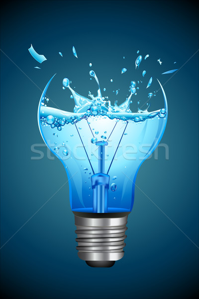 Splashing Water for Bulb Stock photo © vectomart