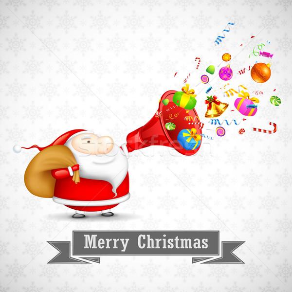 Santa with Christmas Goodies Stock photo © vectomart