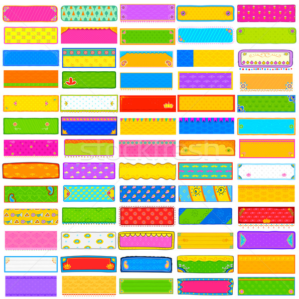 Colorful Kitsch banner jumbo collection Stock photo © vectomart