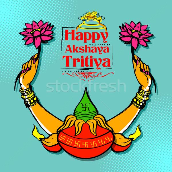 Akshay Tritiya celebration Stock photo © vectomart