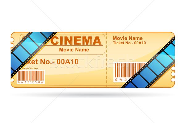 Stok fotoğraf: Film · bilet · film · makarası · örnek · film · sanat