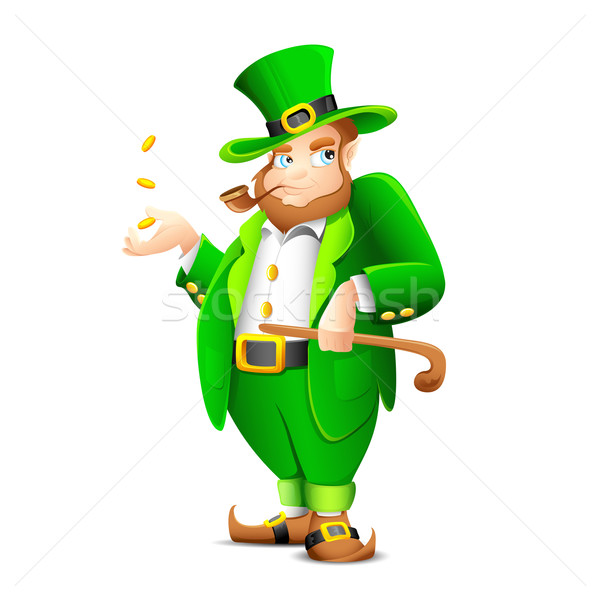 Saint Patrick Leprechaun Stock photo © vectomart