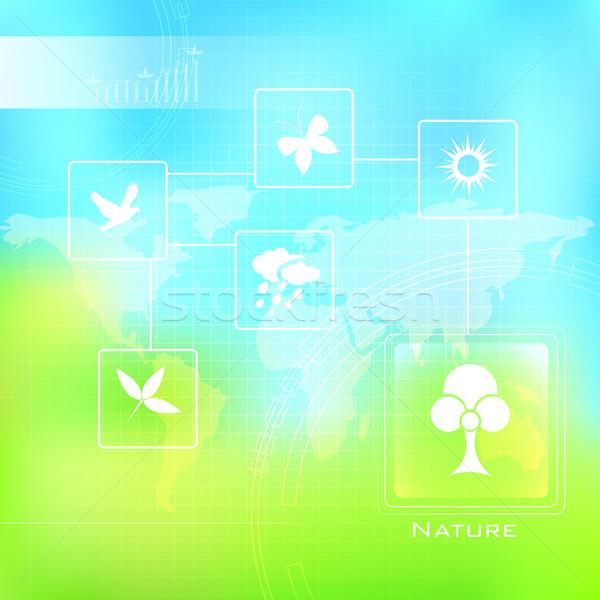 Natureza ilustração assinar símbolo primavera borboleta Foto stock © vectomart