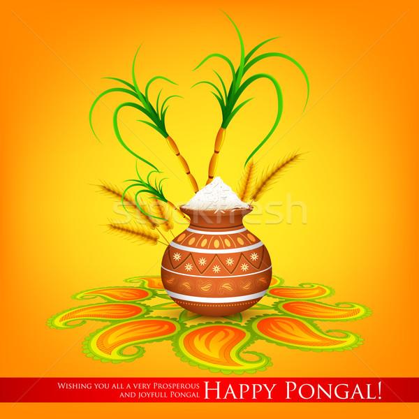 Happy Pongal Stock photo © vectomart