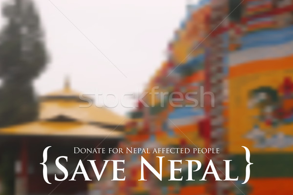 Nepal earthquake 2015 help Stock photo © vectomart