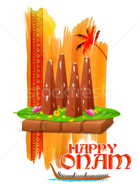 Decorated onathappan for Onam celebration Stock photo © vectomart