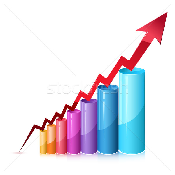 Stock photo: Bar Graph