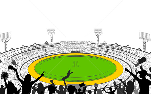Stadium of Cricket with pitch for champoinship match Stock photo © vectomart