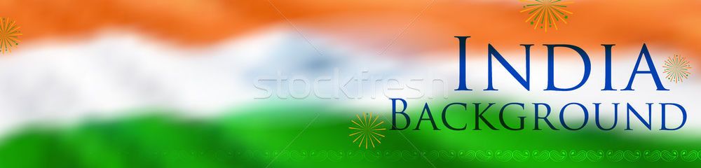 Abstract tricolor Indian flag background for Happy Independence Day of India Stock photo © vectomart