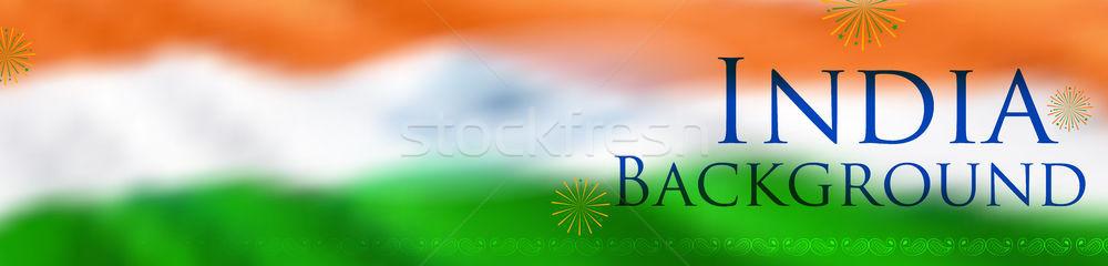 Soyut üç renkli Hint bayrak mutlu gün Stok fotoğraf © vectomart