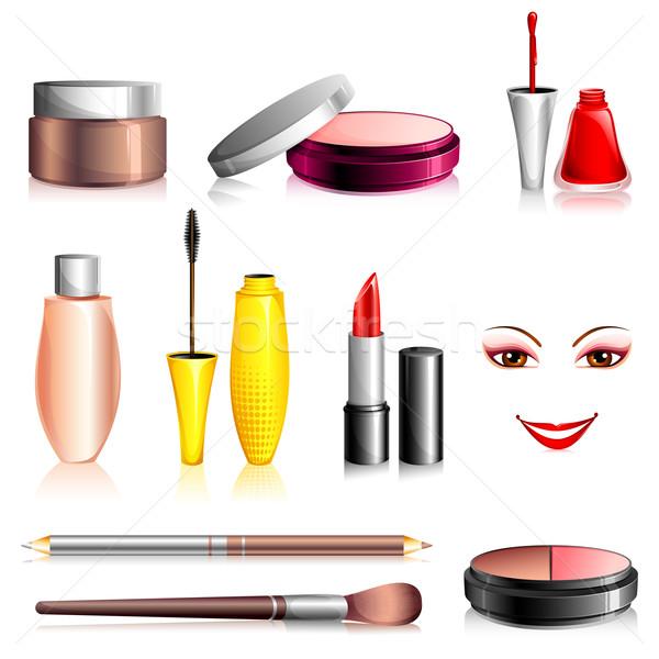 Güzellik kozmetik örnek ayarlamak moda yalıtılmış Stok fotoğraf © vectomart