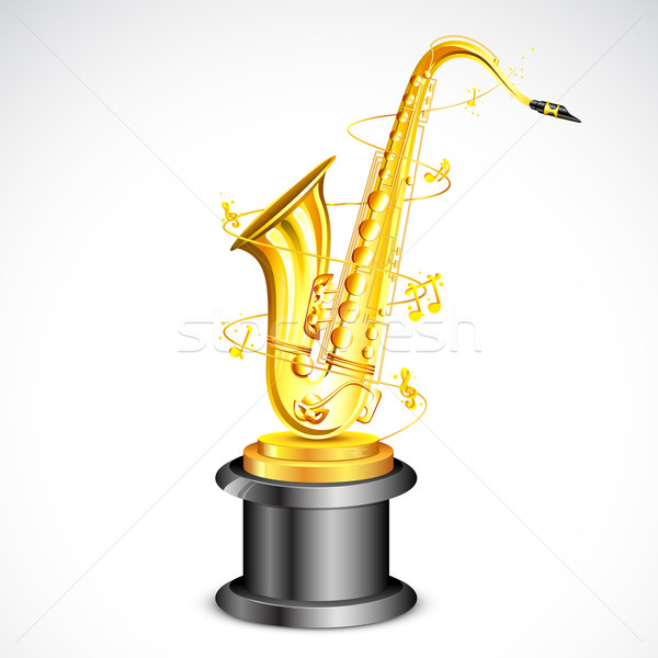 Musique attribution illustration or saxophone film Photo stock © vectomart
