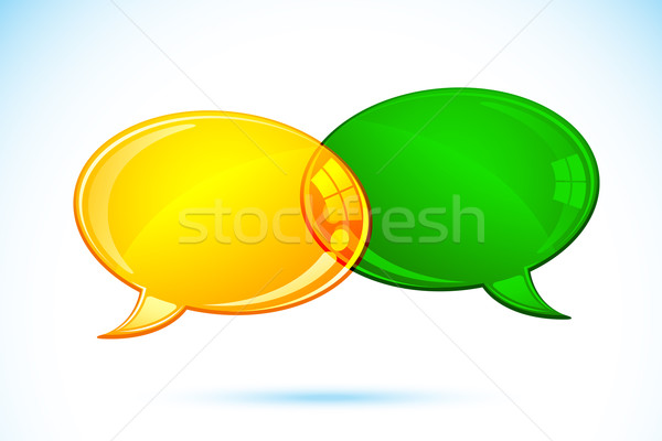 чате пузырь иллюстрация пару аннотация искусства знак Сток-фото © vectomart