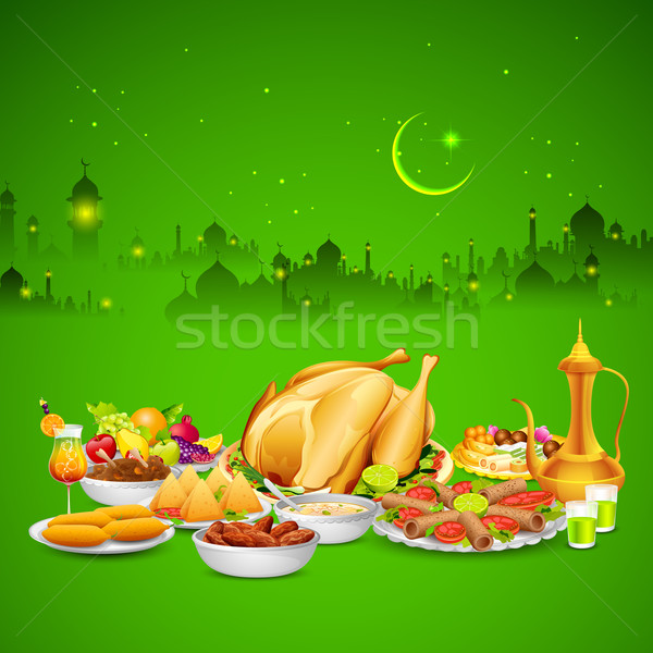 Delicious dishes for Iftar party Stock photo © vectomart