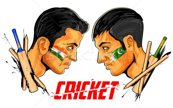 Cricket players of cricket championship Stock photo © vectomart