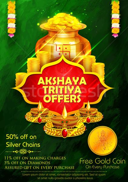 Stock photo: Akshaya Tritiya celebration Sale promotion