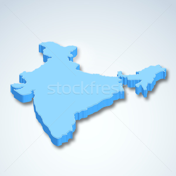 Detailed 3d map of India, Asia Stock photo © vectomart