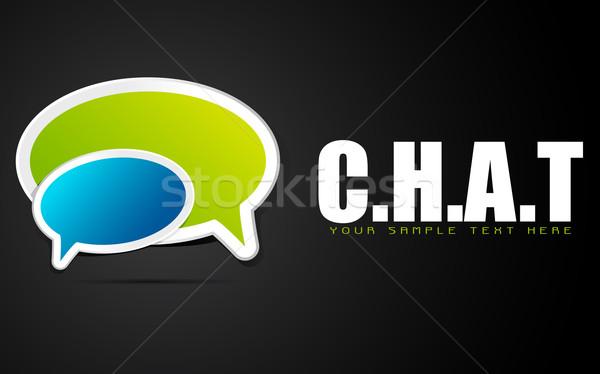 Chat illustrazione chattare bolla abstract sfondo arte Foto d'archivio © vectomart