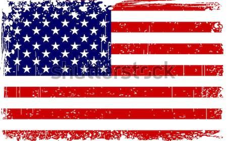 Sucio bandera de Estados Unidos ilustración frontera fiesta bandera Foto stock © vectomart