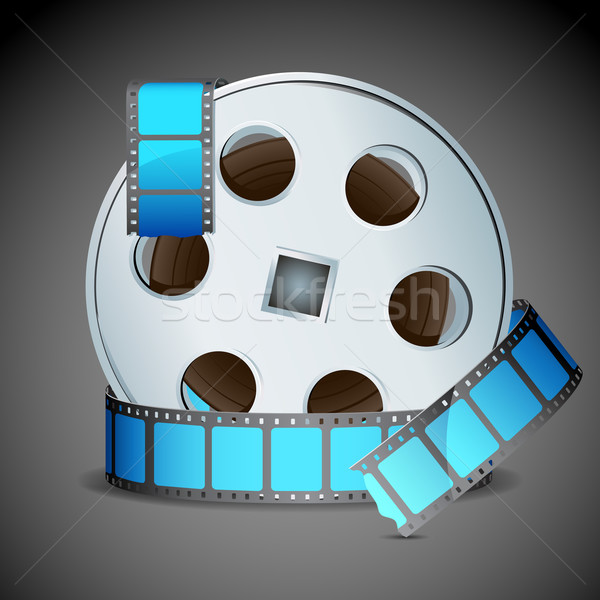 Film reel illustratie abstract technologie achtergrond film Stockfoto © vectomart