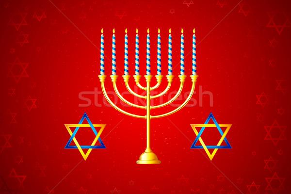 Hanukkah Menorah Stock photo © vectomart