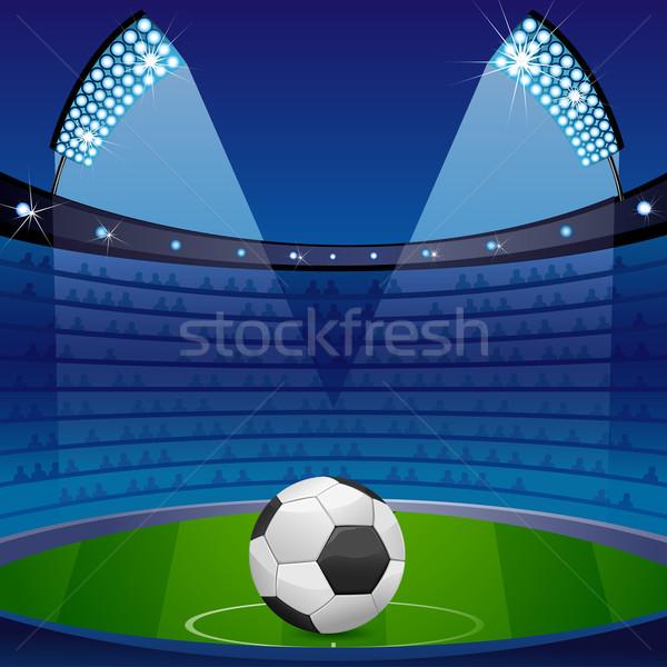 Soccer Ball in Stadium Stock photo © vectomart