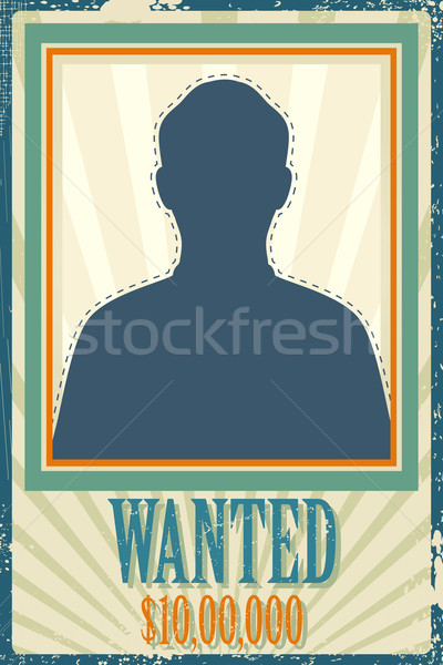 Gezocht retro poster illustratie ruimte foto Stockfoto © vectomart