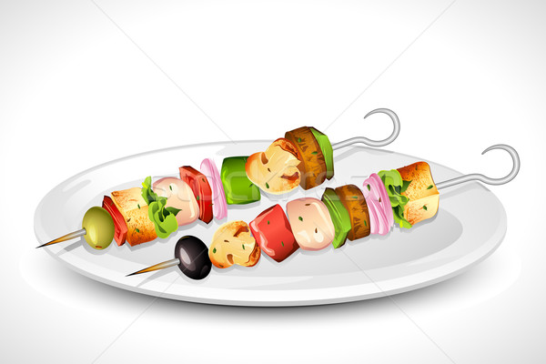 Grilled Skewer Stock photo © vectomart