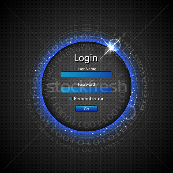 Login Page Stock photo © vectomart