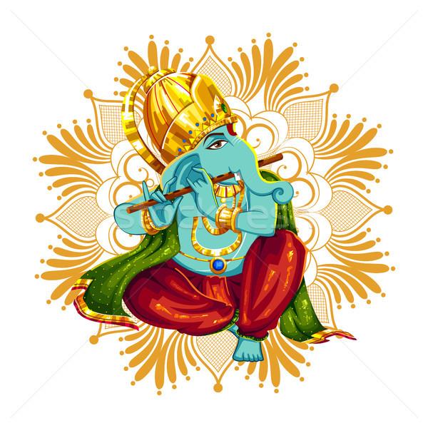 Lord Ganpati background for Ganesh Chaturthi Stock photo © vectomart