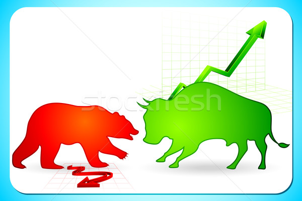 Bullish and Bearish market Stock photo © vectomart