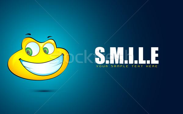 Uśmiech twarz ilustracja streszczenie oka Zdjęcia stock © vectomart