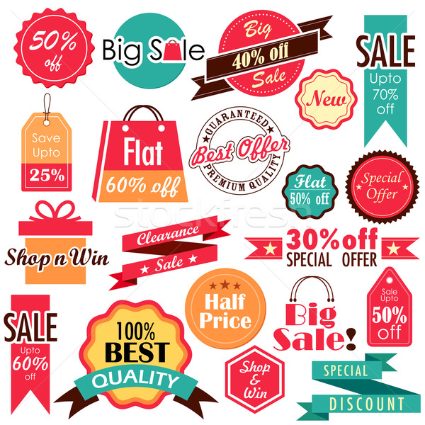 Sale and Discount tags Stock photo © vectomart