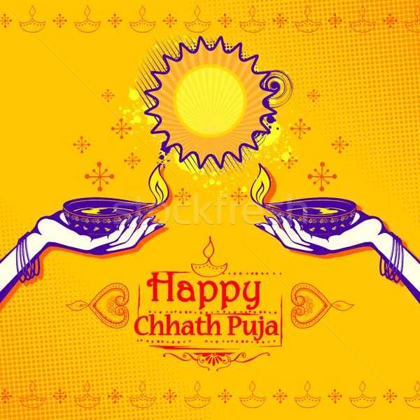 Felice vacanze sole festival India illustrazione Foto d'archivio © vectomart