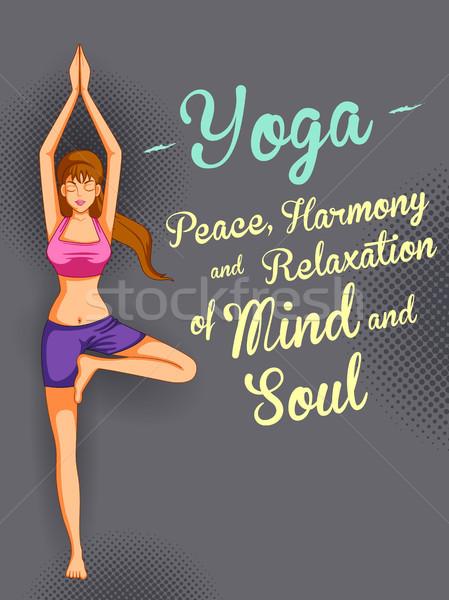 Uluslararası yoga gün örnek kadın vücut Stok fotoğraf © vectomart