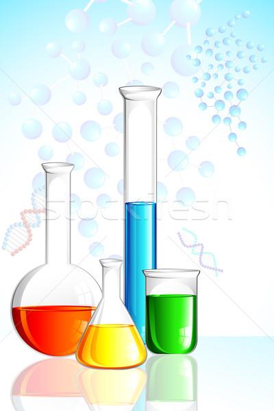 Laboratory Glassware Stock photo © vectomart