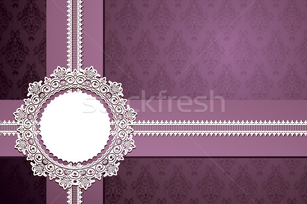Lace Ribbon on Floral Background Stock photo © vectomart