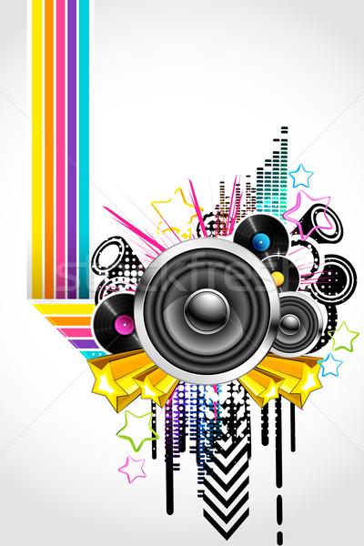 Absztrakt háttér retro stílus zene technológia Stock fotó © vectomart