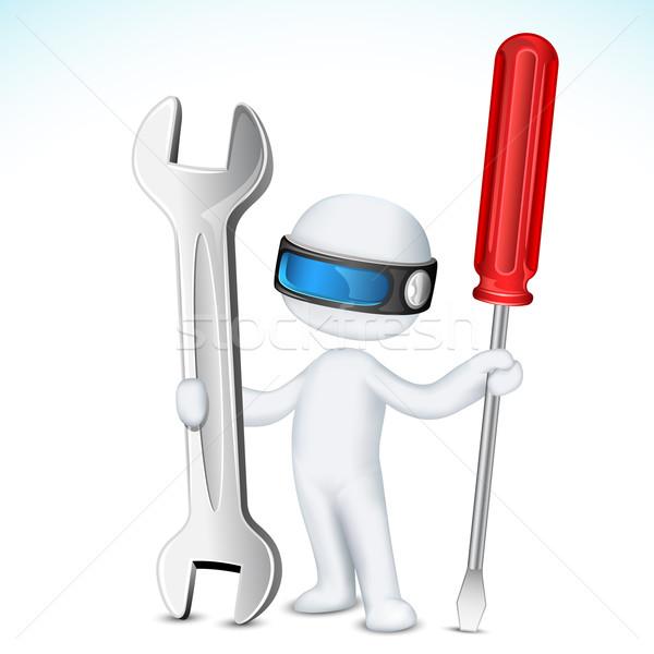 3d man vector tools illustratie schaalbaar Stockfoto © vectomart