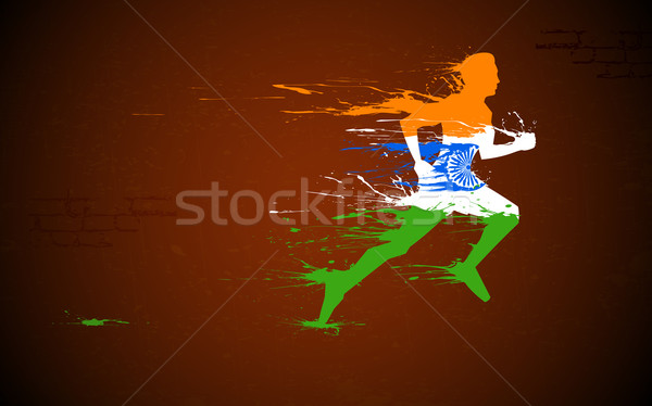 Runner in Indian Tricolor Stock photo © vectomart
