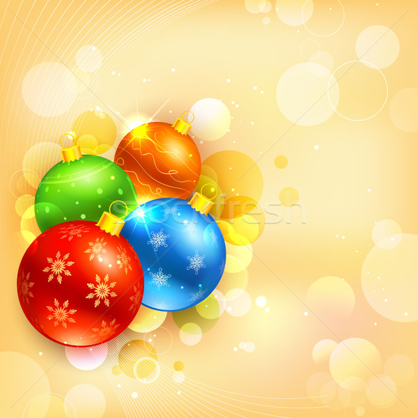 Colorato Natale gingillo illustrazione impiccagione abstract Foto d'archivio © vectomart