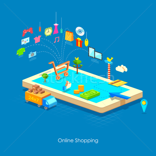 e commerce concept Stock photo © vectomart