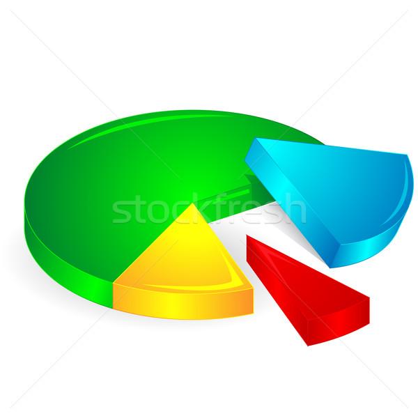Ilustracja odizolowany działalności ceny rynku Zdjęcia stock © vectomart