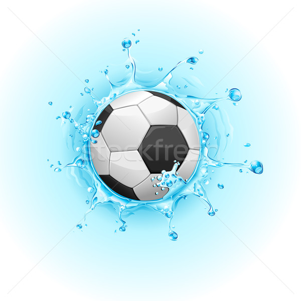 Voetbal illustratie water sport abstract Stockfoto © vectomart