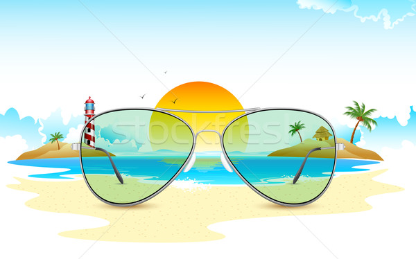 Sea View through Sun Glasses Stock photo © vectomart